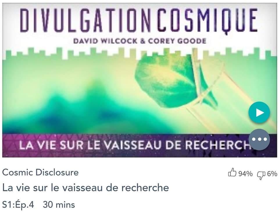 Émission « DIVULGATION COSMIQUE», l'intégrale. Saison 1, épisode 4/14 : LA VIE SUR UN VAISSEAU DE RECHERCHE