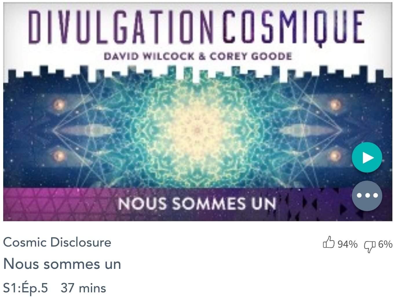 Émission « DIVULGATION COSMIQUE», l'intégrale. Saison 1, épisode 5/14 (Août 2015) : NOUS SOMMES UN