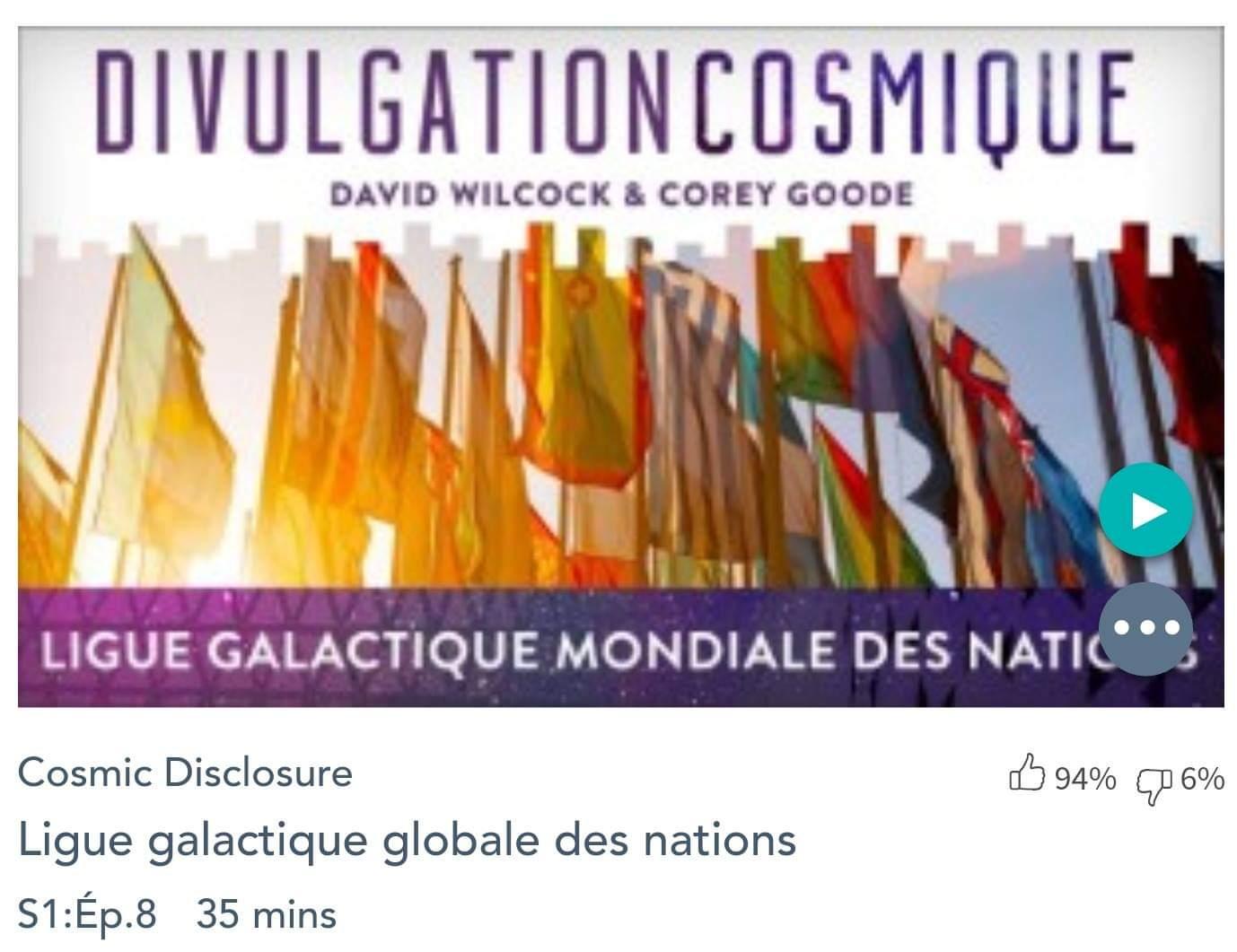 Émission « DIVULGATION COSMIQUE», l'intégrale. Saison 1, épisode 8/14 : LA LIGUE GALACTIQUE MONDIALE DES NATIONS