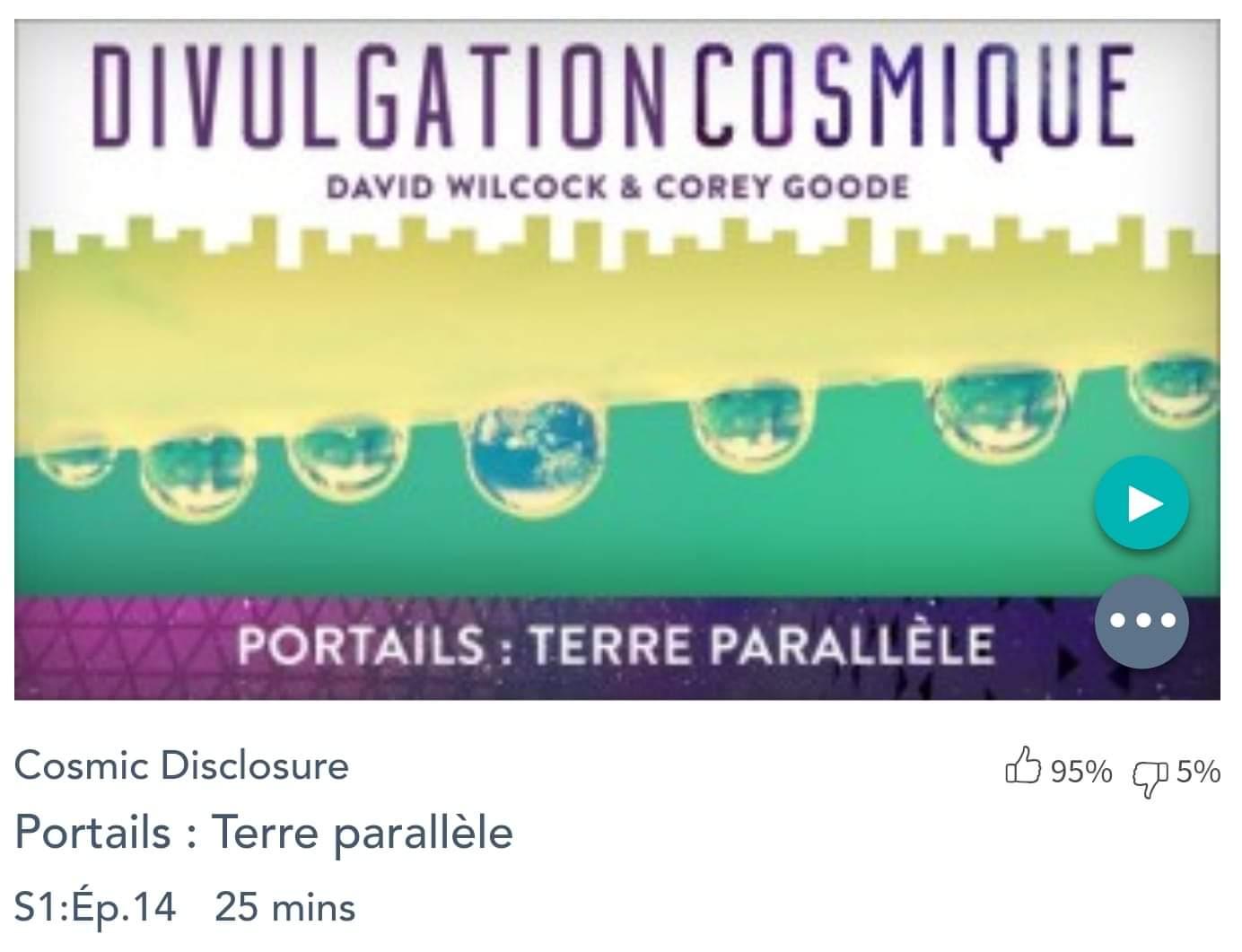 Émission « DIVULGATION COSMIQUE», l'intégrale. Saison 1, épisode 14/14 : PORTAILS VERS UNE TERRE PARALLÈLE