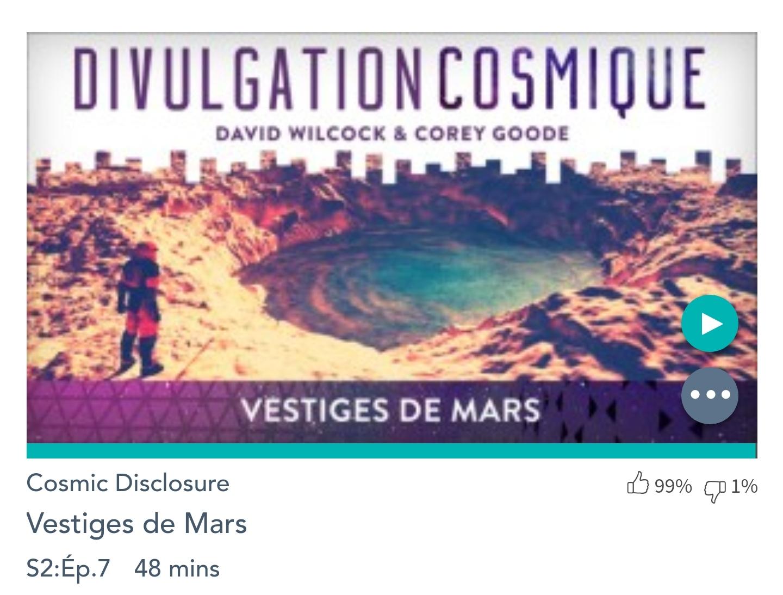 Émission « DIVULGATION COSMIQUE», l'intégrale. Saison 2, épisode 7/17 : VESTIGES DE MARS