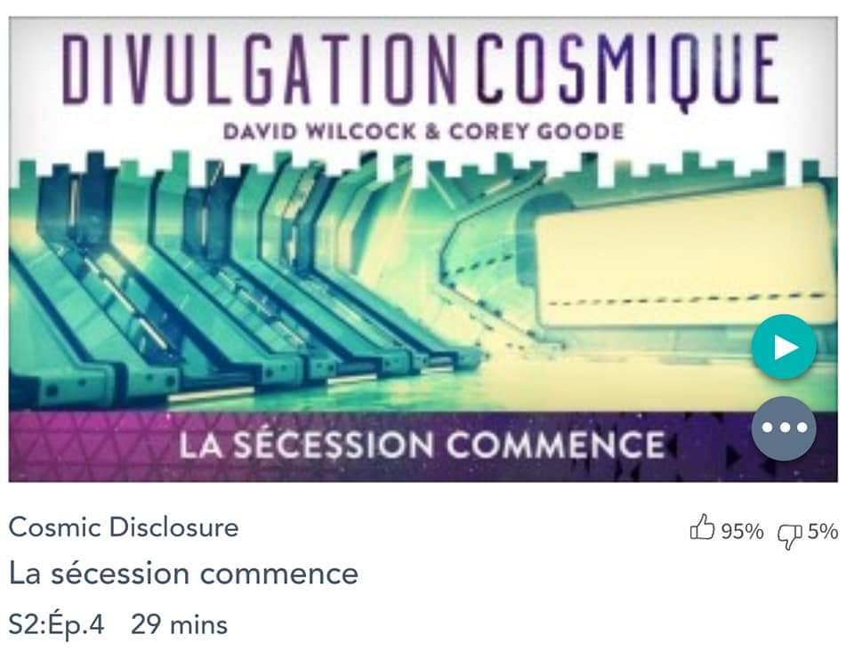 Émission « DIVULGATION COSMIQUE», l'intégrale. Saison 2, épisode 4/17 : LA SÉCESSION COMMENCE