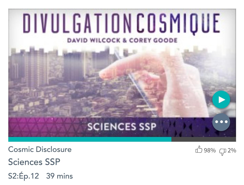 Émission « DIVULGATION COSMIQUE», l'intégrale. Saison 2, épisode 12/17 : LA SCIENCE DES PROGRAMMES SPATIAUX SECRETS