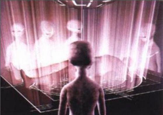 Une abduction (enlèvement extraterrestre) filmée par des caméras de vidéo surveillance?