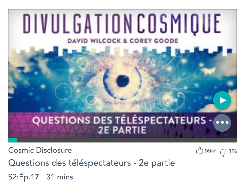Émission « DIVULGATION COSMIQUE», l'intégrale. Saison 2, épisode 17/17 : QUESTIONS DES TÉLÉSPECTATEURS – 2ème PARTIE