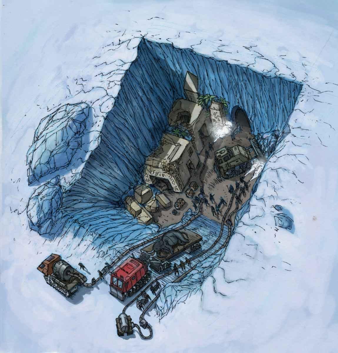 Fin du jeu II : L'Atlantide antarctique et les anciennes ruines aliennes et le MIC PSS