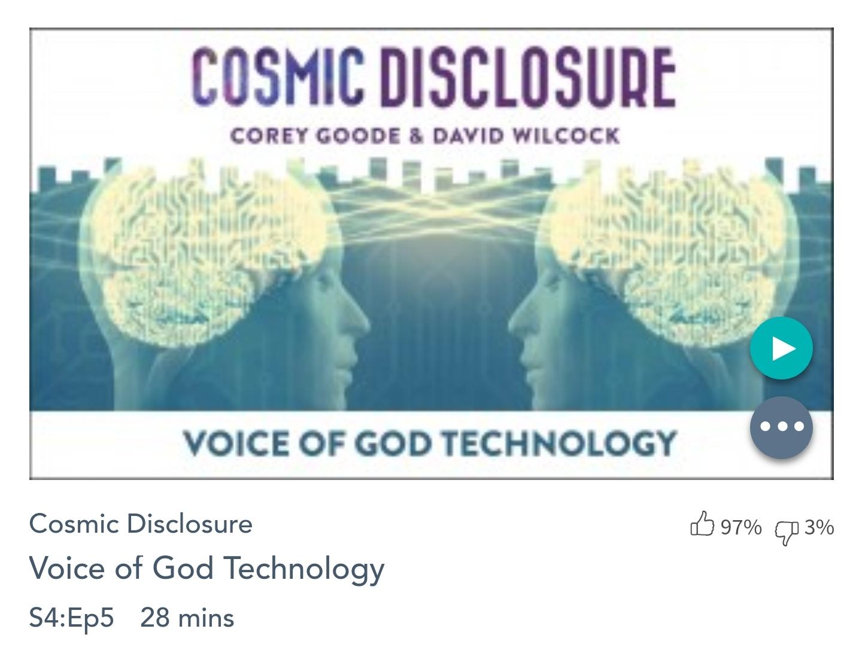 Émission « DIVULGATION COSMIQUE», l'intégrale. Saison 4, épisode 5/11 : LA TECHNOLOGIE DE LA VOIX DE DIEU