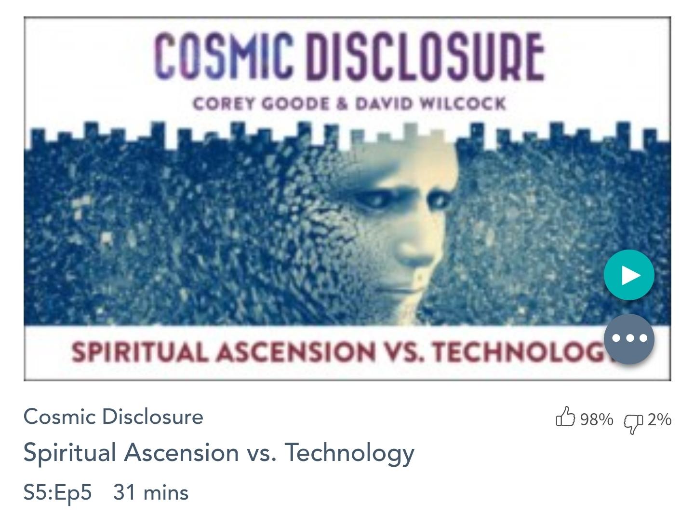Émission « DIVULGATION COSMIQUE», l'intégrale. Saison 5, épisode 5/17 : L'ASCENSION SPIRITUELLE CONTRE LA TECHNOLOGIE
