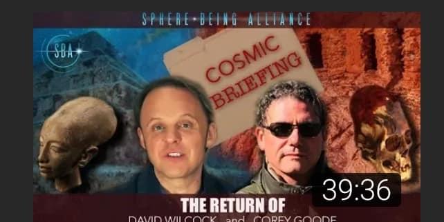 Première interview commune de David Wilcok et Corey Goode depuis la fin de leur collaboration pour Divulgation Cosmique