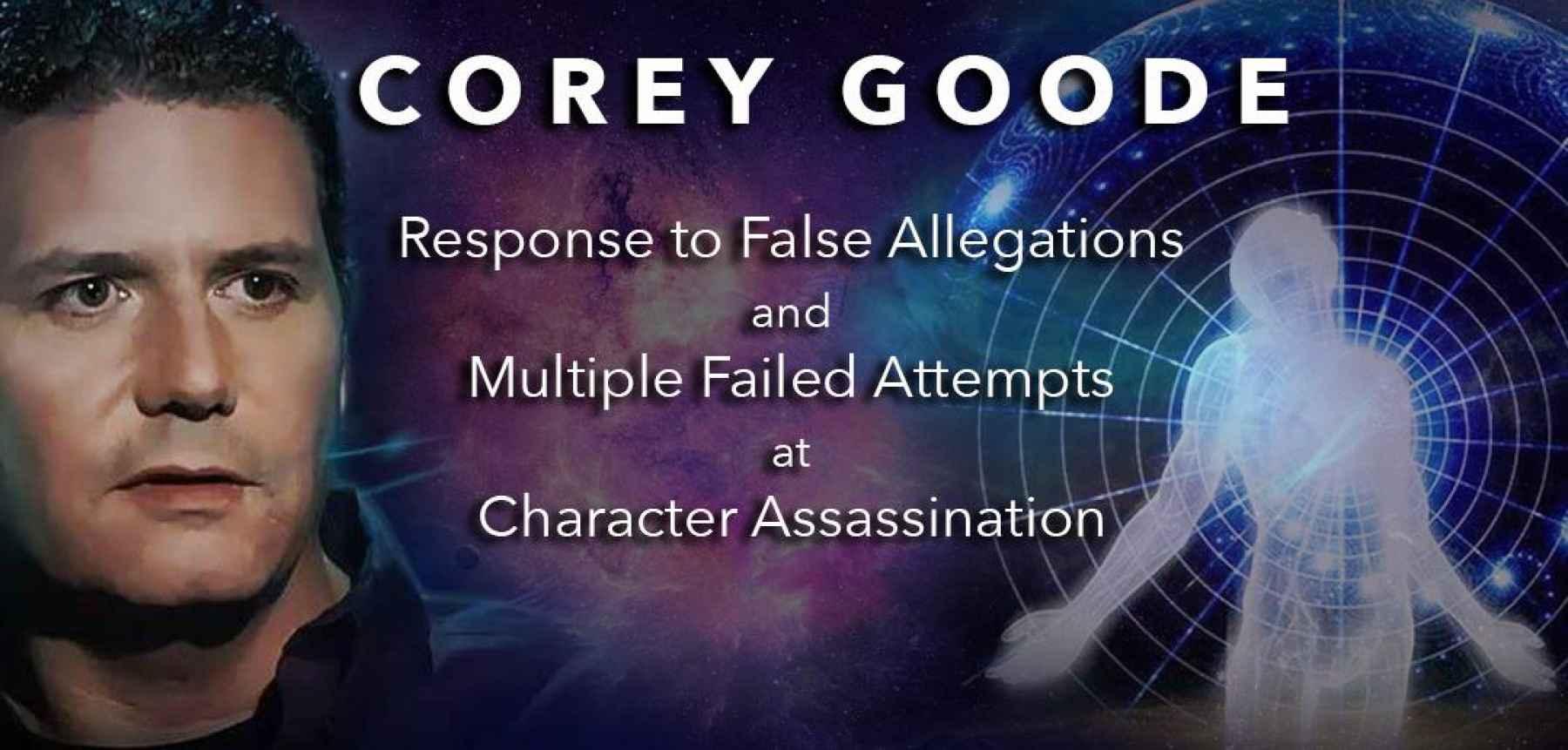 Déclaration publique de Corey Goode : «RÉPONSE AUX FAUSSES ALLÉGATIONS ET AUX MULTIPLES TENTATIVES INFRUCTUEUSES D'ASSASSINAT DE PERSONNES»