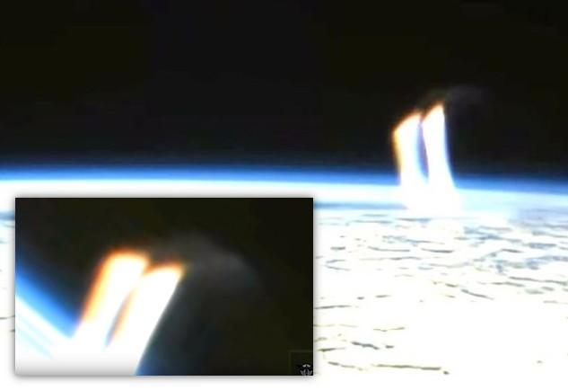 La NASA interrompt la transmission TV depuis l'espace lorsqu'un OVNI tire des «Rayons de lumière» sur Terre
