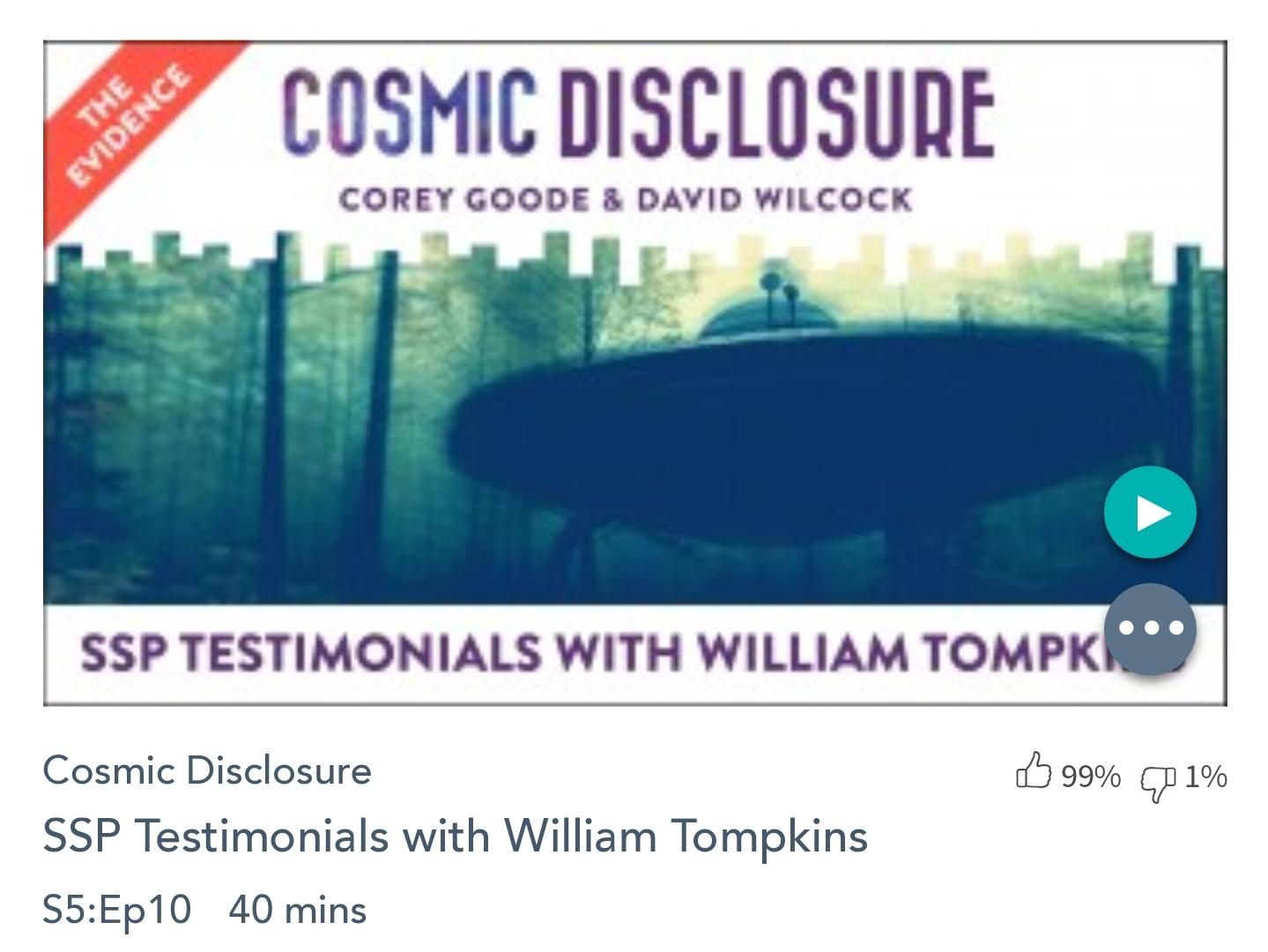 Émission « DIVULGATION COSMIQUE», l'intégrale. Saison 5, épisode 10/17 : TÉMOIGNAGE SUR LE PSS PAR WILLIAM TOMPKINS