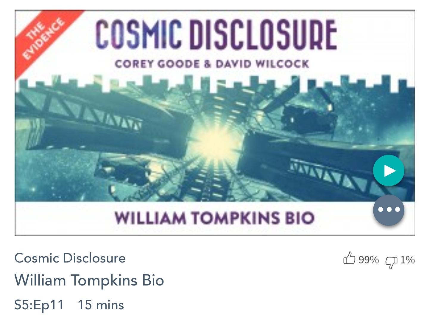 Émission « DIVULGATION COSMIQUE», l'intégrale. Saison 5, épisode 11/17 : BIOGRAPHIE DE WILLIAM TOMPKINS