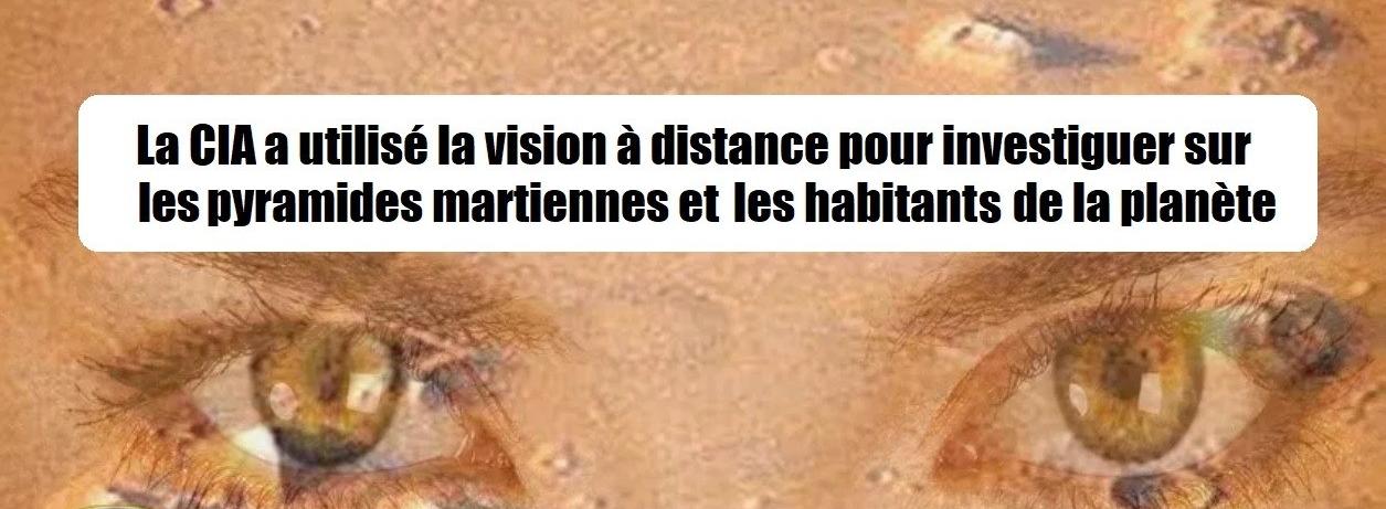 La CIA a utilisé la visualisation à distance pour se renseigner sur les pyramides et les habitants de Mars, il y a environ un million d'années