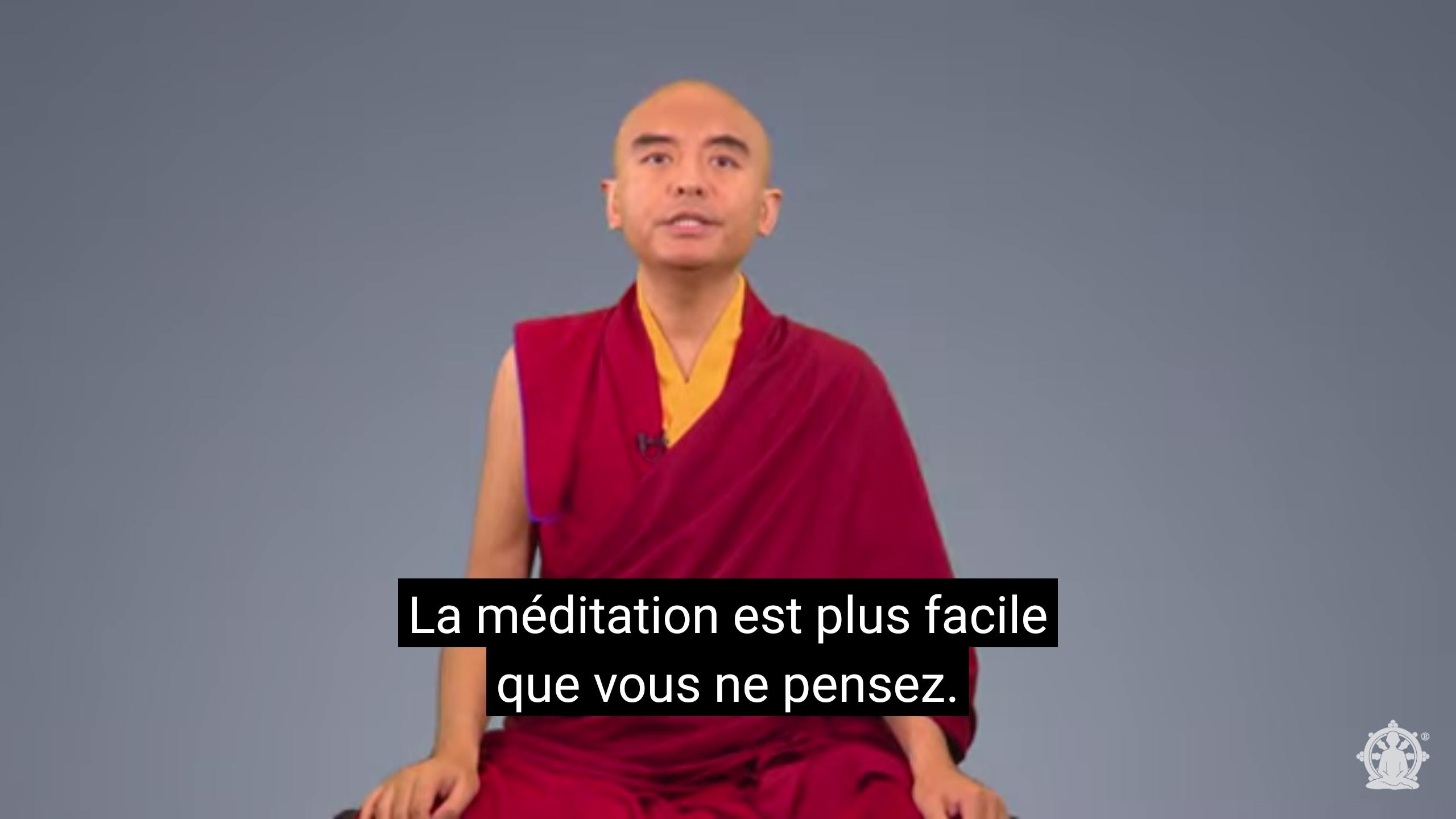«La méditation est plus facile que vous ne le pensez», par Yongey Mingyur Rinpotché