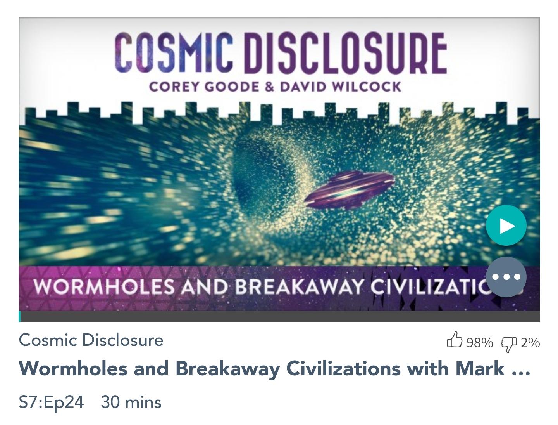 Émission « DIVULGATION COSMIQUE », l'intégrale. Saison 7, épisode 24/32 : VORTEX ET CIVILISATIONS DISSIDENTES avec MARK McCANDLISH