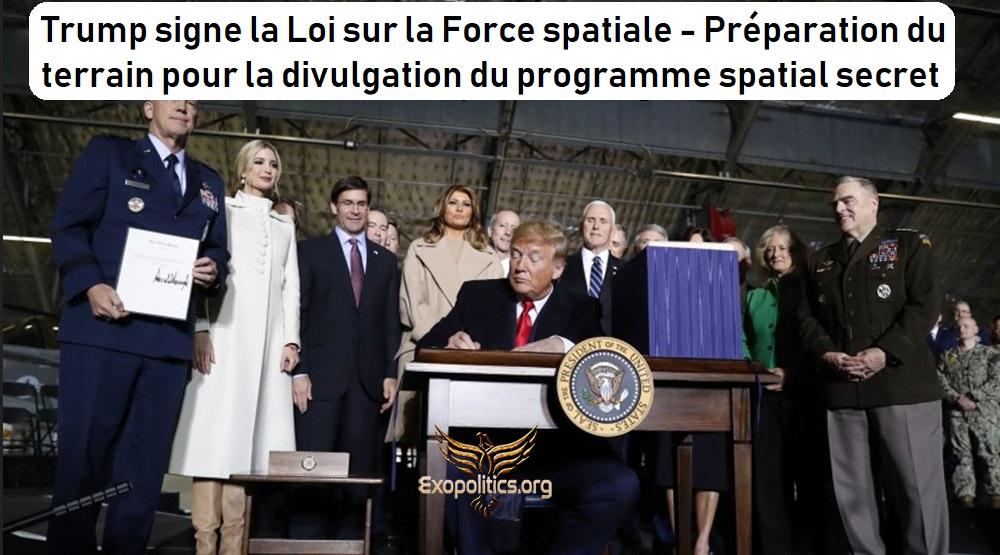 Trump signe la Loi sur la Force spatiale – Préparation du terrain pour la divulgation du programme spatial secret