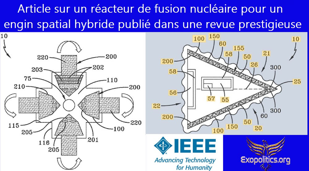 Article sur un réacteur de fusion nucléaire pour un engin spatial hybride publié dans une revue prestigieuse