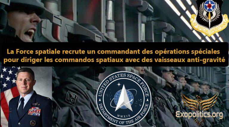 La Force spatiale recrute un commandant des opérations spéciales pour diriger les commandos spatiaux avec des vaisseaux anti-gravité