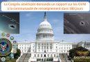 Le Congrès américain demande un rapport sur les OVNI à la communauté de renseignement sous 180 jours
